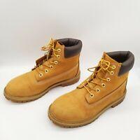 Timberland Junior 6 inch Premium Boots Waterproof Big Boys Wheat 6.5
