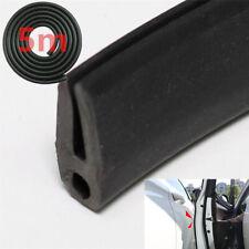 Black Rubber Seal Strip Car Door Pillar Closed Edge Weatherstrip Big O-U Type 5m