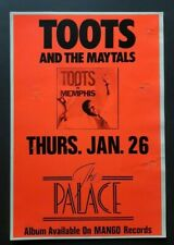 TOOTS and The Maytals Original Promo Concert Poster 1989 Ska Rock Steady REGGAE