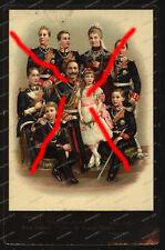 Kabinett-Foto-Kaiser-Wilhelm II-Portrait-coloriert-König-Preussen-Familie-