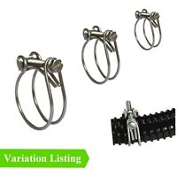 Double Wire Fish Pond Hose Clips, Koi Water Filter Pump Screw Pipe Tube Fitting