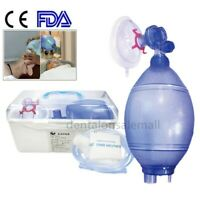 FDA Adult CPR Resuscitator Rescue Mask,CPR Face-Mask,Air Bag +Case For First Aid