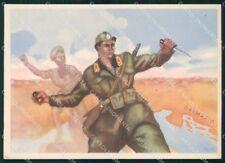 Militari VI Battaglione Volontari Genova Fascismo Dalmazia FG cartolina XF7256