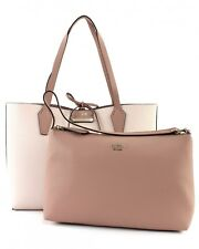 GUESS Bobbi Inside Out Tote Schultertasche Stone / Mocha Rosa Weiß