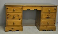 Solid Pine Desk Large Rustic With Six Dovetail Drawers Delivery Available