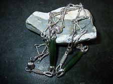 super schöne Silber Jade Kette Collier 76 cm 70er Jahre