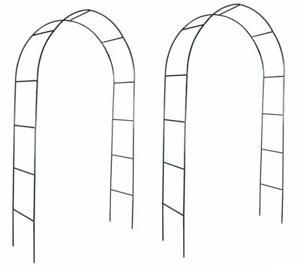 2x 2m Garden Arch Metal Tubular Frame Climbing Plant Archway Arbour