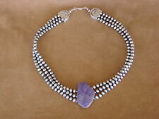 Handmade Charoite Necklace - Delgarito Native American Jewelry Sterling Silver