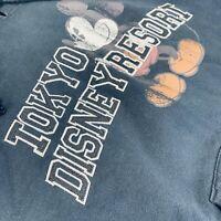 Vintage Tokyo Disneyland Disney Resort Mickey Mouse Hoodie Sweatshirt '83 Sz M