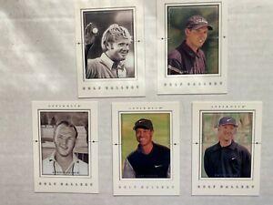 2001 Upper Deck Golf Gallery 5 card insert set (Nicklaus, Garcia, Palmer, Tiger)