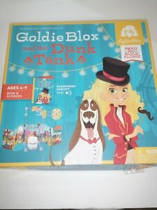 Goldie Block And The Dunk Tank - Book & 52 Pieces - Read & Build Along! NEW