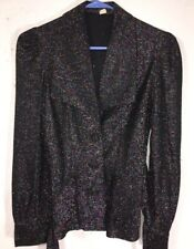 Vintage Glitter Top Womens Black Top   Size 5 Worn To See Michael Jackson