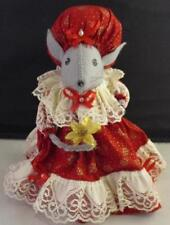 Vtg Handmade Felt Mouse Christmouse Christmas Ornaments Centerpiece Decoration