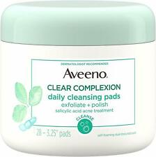 Aveeno Clear Complexion Daily Facial Cleansing Pads With Salicylic Acid Blemish