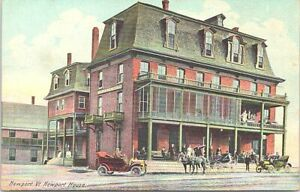 Lithograph Newport VT Street View at Newport House Hotel early 1900s