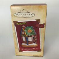 Hallmark Ornament Crayola Crayons Gingerbread Home Lighting Christmas 2004