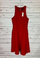 BANANA REPUBLIC Women's 8 Red Sleeveless Spring Summer Party Dress NEW With TAGS