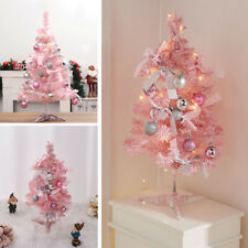 More details for desktop artificial prelit flocked spruce christmas decorated tree with led light
