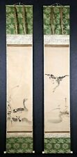 Pair of Japanese Ink Hanging Scrolls Kano Tanyu