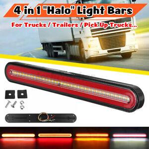 33CM Universal Car Truck DRL LED Light Bar 3rd Brake Turn Signal Stop Tail