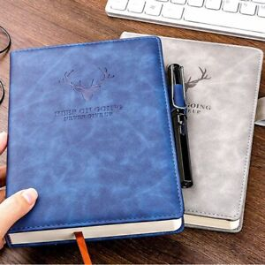 A5 360 Pages Leather Vintage Lined Page Notepad Notebook Note Book Journal Diary