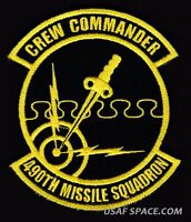USAF 490th MISSILE SQUADRON - CREW COMMANDER -Minuteman III- Malmstrom AFB PATCH