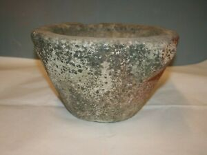 Antique Heavy Large Stone Mortar Bowl