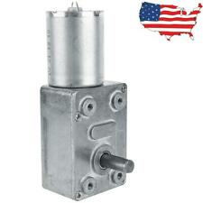 Dc 12v 2rpm High Torque Turbo Worm Electric Geared Motor Low Speed Reversible Us