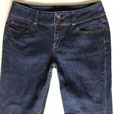 Ladies London Jean Blue Flared High WaIst Jeans Size 10 W32 L32 (hj304)