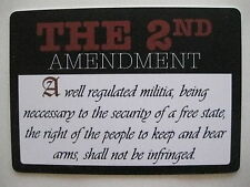 The Second Amendment Plastic Sign Free Shipping!