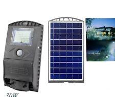 LAMPIONE FARO STRADALE ENERGIA SOLARE 30 WATT 60 LED DA ESTERNO DA PALO mc