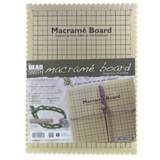 """Beadsmith Large Macrame Board With Instructions 10"""""""