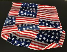 Patriotic USA American Flag Scarf Womens Hair / Neck Fashion Accessory