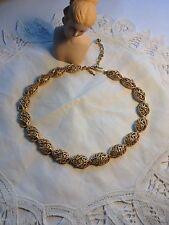 Vintage Trifari Gold Tone Necklace Cut Out Design