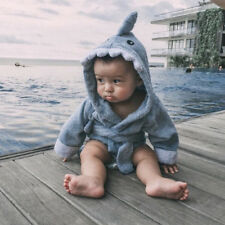 Unisex Baby Kids Toddler Hooded Bath Towel Bathrobe Cartoon Animal Bathing Wrap