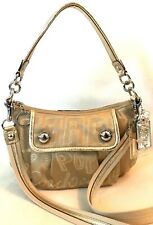 COACH POPPY STORYPATCH GROOVY KHAKI GOLD CONVERTIBLE BAG $228 15302