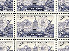1951 - COLORADO STATEHOOD - #1001 Full Mint -MNH- Sheet of 50 Postage Stamps