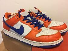 Nike Dunk Low Pro SB DANNY SUPA Size 13 PRE OWNED Safety Orange/Hyper Blue/White