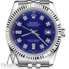 Rolex 26mm Datejust Blue Color 8+2 Diamond Accent Dial 18K & SS Ladies Watch