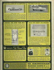Vintage 1960's Tommy Ivo Isky Cams Top Fuel NHRA Print Ad