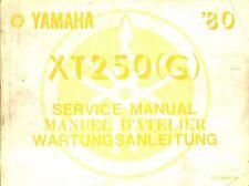 Yamaha XT250 1980 Service Manual 3Y3-28197-80