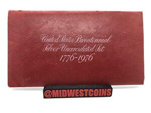 1776-1976 U.S. Mint Bicentennial Silver Uncirculated 3 Coin Set eisenhower
