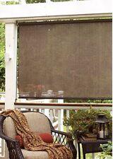 Baja 72-inch Cocoa Sunroom Outdoor Indoor Window with Roller Shade Home Decor