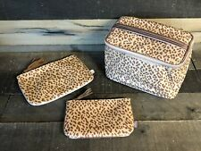 (3) IPSY Leopard/Cheetah/Animal Print November 2019 Cosmetic Make-Up Bags ONLY