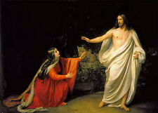 Oil painting Appearance of Jesus Christ to Maria Magdalena in landscape canvas