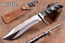 "11.1"" KMA CUTLERY CUSTOM D2 STEEL MIRROR POLISHED COMBAT BOWIE BLADE KNIFE 7102"