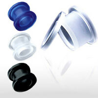 PAIR Acrylic Screw Fit Flesh Tunnels Plugs Gauges Earlets Body Jewelry