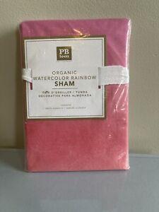 Pottery Barn Teen Organic Watercolor Rainbow Sham Standard Pink NEW