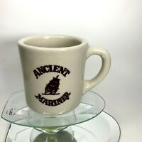"""Ancient Mariner Coffee Mug Heavy (thick)  Made In The U.S.A.Ceramic 3"""" T Cup C12"""