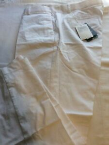 New Mens Nike Flex Golf Pants 38x32 White Modern Fit MSRP $90 New With Tags